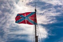 Русский традиционный флаг крепости Город Санкт-Петербурга, Россия Стоковые Фотографии RF