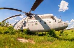 Русский тяжелый вертолет Mi-6 перехода Стоковые Фотографии RF