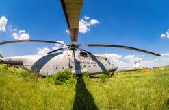 Русский тяжелый вертолет Mi-6 перехода Стоковое фото RF