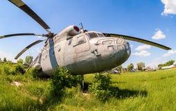 Русский тяжелый вертолет Mi-6 перехода Стоковые Изображения RF