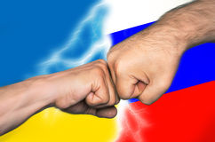 Русский украинский конфликт стоковые фотографии rf