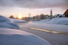 русский утра церков морозный Стоковые Изображения RF