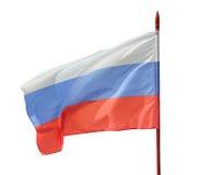 Русский флаттер флага на ветре стоковое изображение
