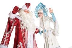 русский характеров изолированный рождеством Стоковые Изображения RF