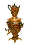 русский чайник samovar традиционный стоковое фото rf