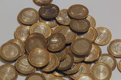 Русский чеканит ` 10 рублевок ` Стоковые Изображения