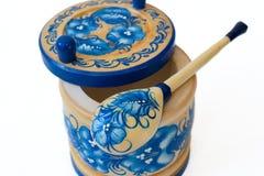 русский tableware деревянный Стоковое Изображение RF