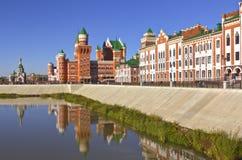 Русский Yoshkar-Ola Россия архитектуры и традиций стоковые фото