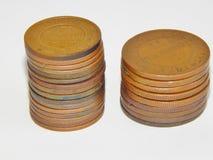 2 1813 русских копейки меди i монетки Александра старых Стоковое Фото
