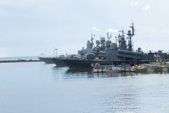 Русское воинское принудили море, который стоковая фотография rf
