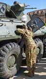 Русское земноводное armored военное транспортное средство Стоковые Фотографии RF