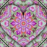Русское сердце цветет карточка влюбленности Стоковые Фото