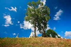 Русское столетие церков XIV Gorodnya Стоковое фото RF