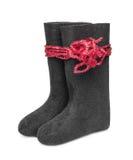 Русское традиционное valenki ботинка войлока зимы Стоковое Фото
