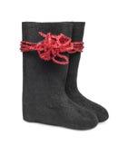 Русское традиционное valenki ботинка войлока зимы Стоковые Фотографии RF