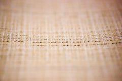 Русый крупный план поверхности текстуры ткани белья как предпосылка ткани стоковое фото
