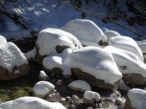 Русло реки Snowy Стоковая Фотография RF