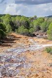 Русло реки Tinto, Уэльва, Андалусия, Испания Стоковое Изображение