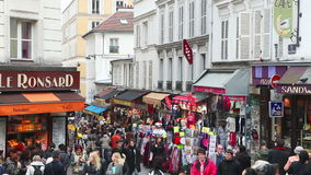 Рута de Steinkerque на холме Montmartre в Париже, Франции видеоматериал