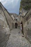Рута Porte Mage, Les Baux-de-Провансаль, Франция стоковые изображения