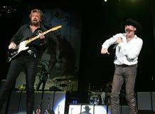 Ручейки и Dunn выполняют в концерте стоковые изображения