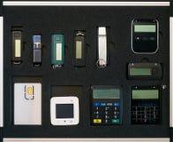 Ручка безопасностью ключевая внезапная и другой комплект системы безопасности банка Стоковое фото RF