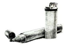 Ручка более светлой и чувствуемой подсказки Стоковые Фото
