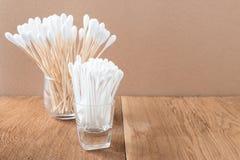 Ручка бутона хлопка деревянные или пробирка хлопка Стоковые Изображения