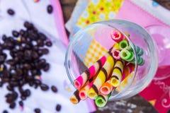 Ручка вафли конфеты Стоковое Изображение RF