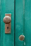 Ручка двери, античная ручка двери Стоковая Фотография RF