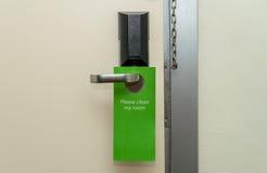 Ручка двери на гостинице Стоковая Фотография