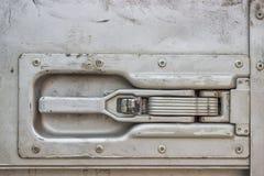 Ручка двери трейлера тележки Стоковая Фотография