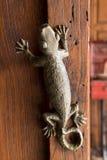 Ручка двери ящерицы Стоковое Изображение