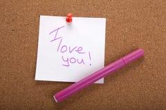 ручка Войлок-подсказки и стикер awhite Стоковая Фотография