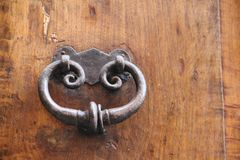 Ручка двери металла стоковые изображения rf