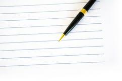 Ручка и бумага Стоковые Фото