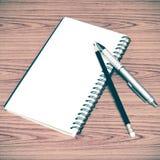 Ручка и карандаш тетради Стоковое Изображение RF
