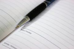 Ручка и дневник Стоковые Изображения