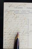 Ручка и письмо пера Стоковое Изображение RF
