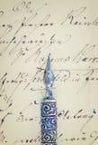 Ручка и письмо пера Стоковое Фото