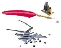 Ручка и помарка пера Стоковое Изображение RF