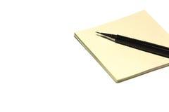 Ручка и пустые листы parer стоковое изображение rf