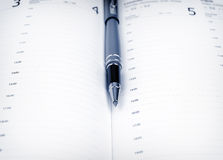 Ручка и план-график Стоковая Фотография