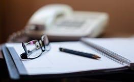 Ручка и стекла Стоковые Фото