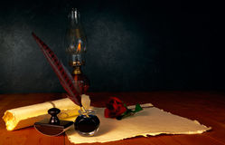 Ручка и чернила пера Стоковое Изображение