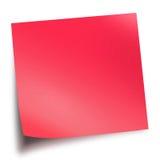 ручка красного цвета памятки Стоковое Фото