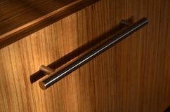 Ручка мебели Inox, крышка шкафа стоковое изображение