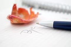 Ручка на белой предпосылке Стоковая Фотография RF