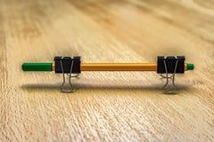 Ручка на бумажных зажимах Стоковое Изображение RF
