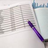 Ручка на листе Стоковое Изображение